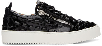 Giuseppe Zanotti Black Vernischa May London Sneakers