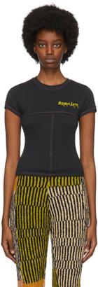 Eckhaus Latta Black Lapped Baby T-Shirt