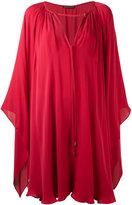 Plein Sud Jeans cape effect dress - women - Silk - 36