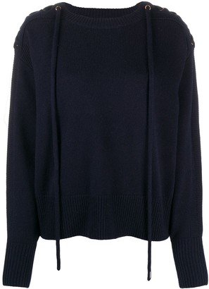 See by Chloe Lace-Up Detail Jumper