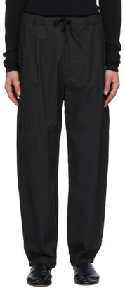 Bottega Veneta Black Coated Trousers