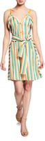 Pinko Andreina Striped Button-Front Dress