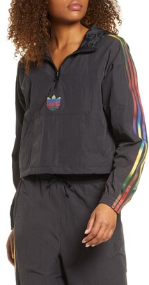 adidas Crop Half Zip Hooded Pullover