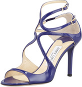 Ivette Patent Strappy Sandal, Blue