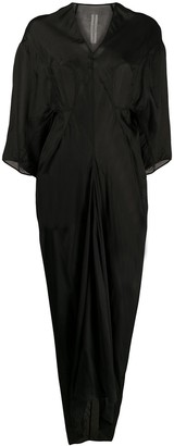 Rick Owens Panelled Drape Detail Dress