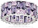Charles Winston Sterling Silver Pink and Amy Cubic Zirconia Eternity Ring, Size 6