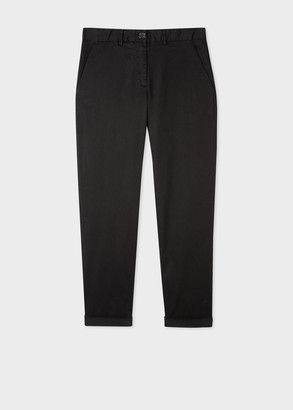 Paul Smith Women's Black Boyfriend-Fit Stretch-Cotton Chinos