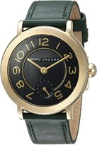 Marc Jacobs Women's 'Riley' Quartz Stainless Steel and Leather Automatic Watch, Color:Red (Model: MJ1469)