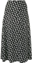 ALEXACHUNG Alexa Chung floral midi skirt