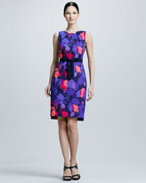 Elie Tahari Callie Floral-Print Dress