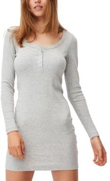 Cotton On Women's Heidi Long Sleeve Henley Mini Dress