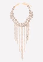 Bebe Crystal Fringe Necklace