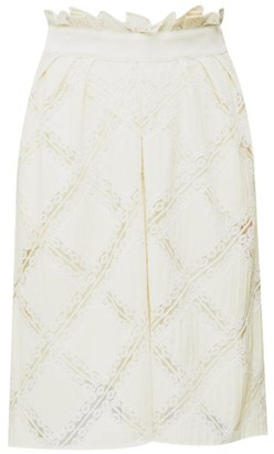 Chloé High-rise Lace-trimmed Skirt - Cream