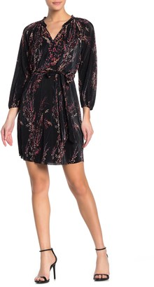 Collective Concepts Long Sleeve Pleated Mini Dress