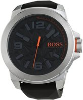 HUGO BOSS Men's 50mm Silicone Band Steel Case Quartz Watch 1513345