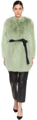 Blancha Shearling & Fox Fur Coat