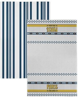 Marie Claire Art Deco Tea Towel Set Paris