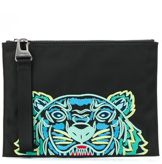Kenzo embroidered Tiger pouch