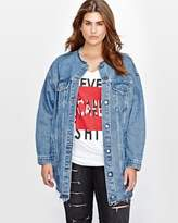 Addition Elle L&L Oversized Boyfriend Denim Jacket