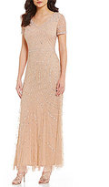 Pisarro Nights Petite Beaded Lace Gown