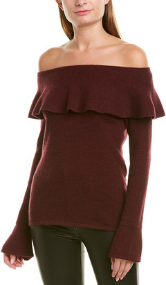 Qi Off-The-Shoulder Cashmere Sweater