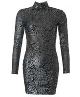 Religion Sequin Turtle Neck Dress