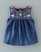Boden Field Friends Embroidered Top