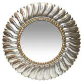 Infinity Instruments Round Marseille Decorative Wall Mirror Gray