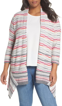 Nic+Zoe Color Mix Open Cardigan