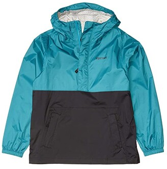Marmot Kids PreCip(r) Eco Anorak (Little Kids/Big Kids) (Enamel Blue/Black) Boy's Clothing