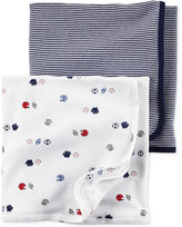 Carter's Baby Boys' 2-Pack Little All-Star Swaddle Blankets