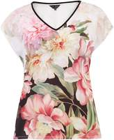 Ted Baker Ilenia Painted Posie Woven T-Shirt