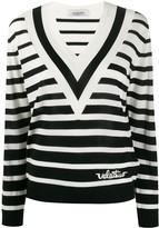Valentino V-neck striped jumper