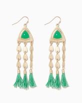 Charming charlie Raya Thread Tassel Earrings