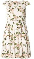 Dorothy Perkins Womens Petite White Butterfly Print Prom Dress- White