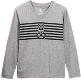 Psycho Bunny Optic Bunny Long Sleeve Tee (Toddler, Little Boys, & Big Boys)