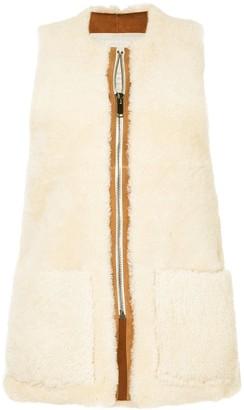 Toogood zipped shearling gilet