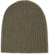 Alex Mill Ribbed Cashmere Beanie - Green