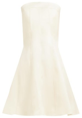 Marina Moscone - Panelled Longline Wool-blend Bustier Top - Womens - Ivory