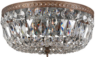Swarovski 3-Light Clear Hand Cut Ceiling Mount