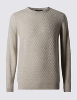 Marks and Spencer Pure Lambswool Long Sleeve Jumper