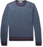 Etro - Contrast-trimmed Herringbone Wool Sweater