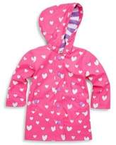 Hatley Toddler's & Little Girl's Floating Heart Splash Raincoat