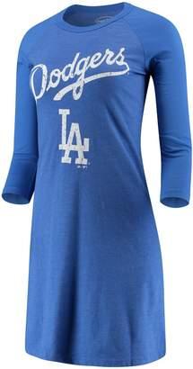 Majestic Women's Threads Heathered Royal Los Angeles Dodgers Tri-Blend 3/4-Sleeve Raglan Dress