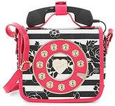 Betsey Johnson Striped Floral Mini Phone Cross-Body Bag