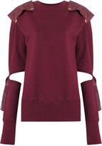 Andrea Bogosian - cut out details sweatshirt - women - Cotton/Polyester - PP