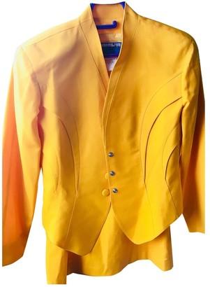 Thierry Mugler Yellow Wool Jackets