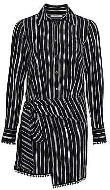 Derek Lam 10 Crosby Women's Eunice Stripe Shirtdress - Size 0