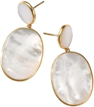 Ippolita Polished Rock Candy 18K Yellow Gold & Mother-Of-Pearl Double-Drop Earrings