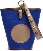 Diane von Furstenberg Steamer mini leather and suede wristlet clutch